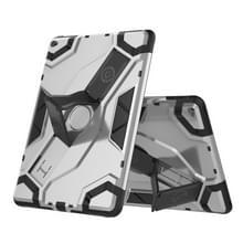 Voor iPad Air 2 / iPad 6 Escort Series TPU + PC Schokbestendige beschermhoes met houder(zilver)