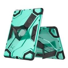 Voor iPad Air 2 / iPad 6 Escort Series TPU + PC Schokbestendige beschermhoes met houder (Mintgroen)