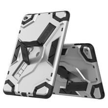 Voor iPad mini 4 Escort Series TPU + PC Shockproof beschermhoes met houder(zilver)