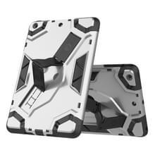 Voor iPad mini 3 / 2 / 1 Escort Series TPU + PC Schokbestendige beschermhoes met houder(zilver)
