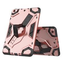 Voor iPad mini 3 / 2 / 1 Escort Series TPU + PC Schokbestendige beschermhoes met houder(Rose Gold)