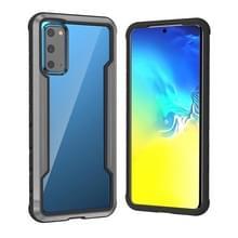 Voor Samsung Galaxy S20 Blade Metal Clear PC + TPU Shocproof Beschermhoes (Zwart Grijs)
