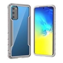 Voor Samsung Galaxy S20 Blade Metal Clear PC + TPU Shocproof Beschermhoes(Grijs)