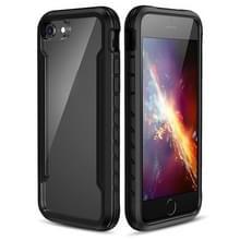 Voor iPhone SE 2020 / 8 / 7 Blade Metal Clear PC + TPU Shocproof Beschermhoes(Zwart)