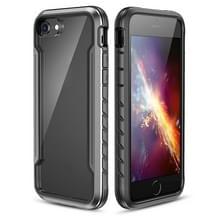 Voor iPhone SE 2020 / 8 / 7 Blade Metal Clear PC + TPU Shocproof Beschermhoes (Zwart Grijs)