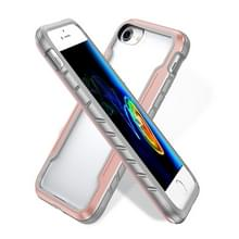 Voor iPhone SE 2020 / 8 / 7 Blade Metal Clear PC + TPU Shocproof Beschermhoes (Rose Gold)
