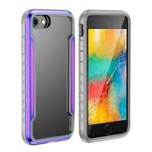 Voor iPhone SE 2020 / 8 / 7 Blade Metal Clear PC + TPU Shocproof Beschermhoes (Kleurrijk)