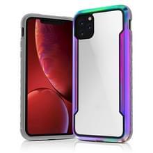Voor iPhone 11 Clear PC + Metalen Frame + TPU Shocproof Beschermhoes (Kleurrijk)