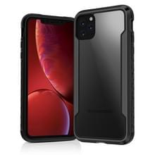 Voor iPhone 11 Clear PC + Metalen Frame + TPU Shocproof Beschermhoes(Zwart)