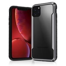 Voor iPhone 11 Pro Max Clear PC + Metalen frame + TPU Shocproof Beschermhoes (Zwart grijs)