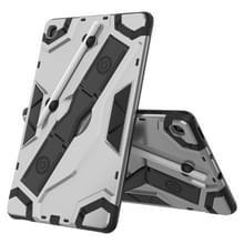 Voor Samsung Galaxy Tab S6 Lite P610/P615 Escort Series TPU + PC Schokbestendige beschermhoes met houder(zilver)