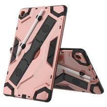 Voor Samsung Galaxy Tab S6 Lite P610/P615 Escort Series TPU + PC Schokbestendige beschermhoes met houder(Rose Gold)