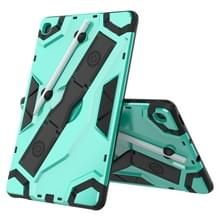 Voor Samsung Galaxy Tab S6 Lite P610/P615 Escort Series TPU + PC Schokbestendige beschermhoes met houder (Mintgroen)