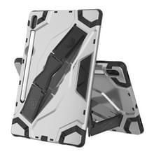 Voor Samsung Galaxy Tab S6 T860/T865 Escort Series TPU + PC Schokbestendige beschermhoes met houder(zilver)