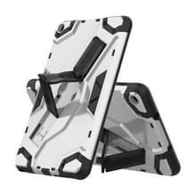 Voor Samsung Galaxy Tab A 8.0 & S Pen (2019) P200/P205 Escort Series TPU + PC Schokbestendige beschermhoes met houder(zilver)