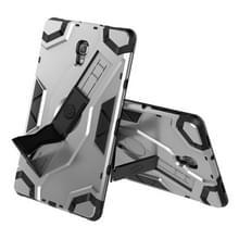 Voor Samsung Galaxy Tab A 10.5 T590/T595 Escort Series TPU + PC Shockproof Beschermhoes met houder(zilver)