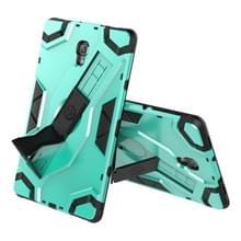 Voor Samsung Galaxy Tab A 10.5 T590/T595 Escort Series TPU + PC Shockproof Beschermhoes met houder (MintGroen)