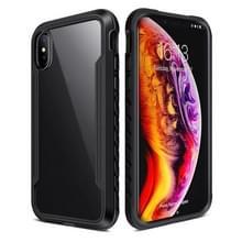 Voor iPhone XR Blade Metal Clear PC + TPU Shocproof Beschermhoes(Zwart)