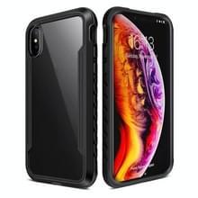 Voor iPhone XS / X Blade Metal Clear PC + TPU Shocproof Beschermhoes(Zwart)
