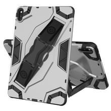 Voor Huawei MatePad 10.4 Escort Series TPU + PC Schokbestendige beschermhoes met houder(zilver)
