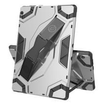 Voor Lenovo Tab M10 TB-X605 Escort Series TPU + PC Schokbestendige beschermhoes met houder(zilver)