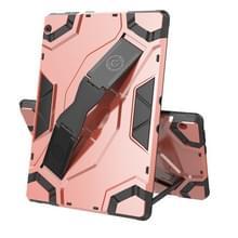 Voor Lenovo Tab M10 TB-X605 Escort Series TPU + PC Schokbestendige beschermhoes met houder(Rose Gold)