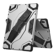 Voor Lenovo Tab E10 TB-X104F Escort Series TPU + PC Schokbestendige beschermhoes met houder(zilver)