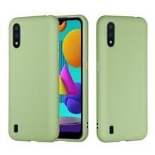 Voor Samsung Galaxy M01 Solid Color Liquid Siliconen Schokbestendige volledige dekking Mobiele Telefoon Beschermhoes (Groen)