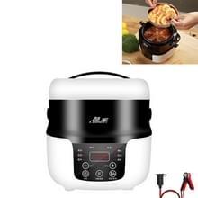 COOLBOX Voertuig Multi-functie Mini Rice Cooker Capaciteit: 2.0L  Versie: 12V-220V Huishouden / Car + Batterij Aansluiting kabel