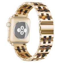 Voor Apple Watch 5 & 4 44mm / 3 & 2 & 1 42mm 42mm Stainless Steel + Hars horloge polsbandje (Hawksbill)