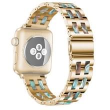 Voor Apple Watch 5 & 4 44mm / 3 & 2 & 1 42mm Roestvrij staal + Harshorloge polsbandje (Emerald Red)