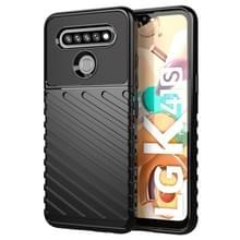 Voor LG K41S Thunderbolt Schokbestendige TPU beschermende soft case(zwart)
