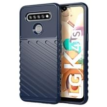 Voor LG K41S Thunderbolt Schokbestendige TPU beschermende soft case(blauw)