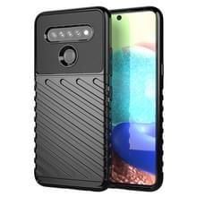 Voor LG K61 Thunderbolt Schokbestendige TPU Beschermende softcase(zwart)