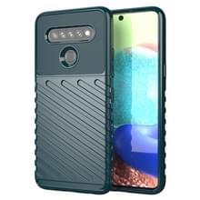 Voor LG K61 Thunderbolt Schokbestendige TPU Beschermende softcase(groen)