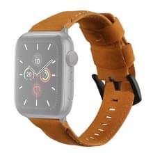 Voor Apple Watch 5 & 4 40mm / 3 & 2 & 1 38mm Echte lederen vervangende band (oranje)