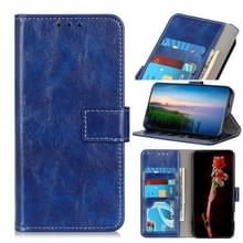 Voor ASUS ROG Phone 3 ZS661KS Retro Crazy Horse Texture Horizontale Flip Lederen kast met Holder & Card Slots & Photo Frame & Wallet(Blauw)