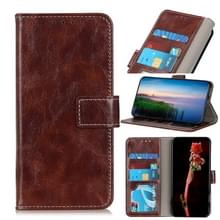 Voor Google Pixel 5 Retro Crazy Horse Texture Horizontale Flip Lederen Case met Holder & Card Slots & Photo Frame & Wallet(Brown)
