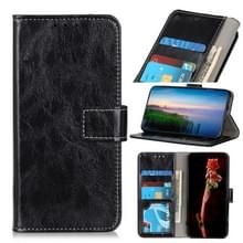 Voor Wiko Sunny 5 Retro Crazy Horse Texture Horizontale Flip Lederen Case met Holder & Card Slots & Photo Frame & Wallet(Zwart)