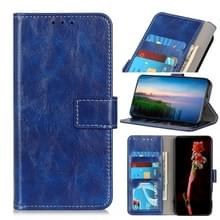 Voor Wiko Sunny 5 Retro Crazy Horse Texture Horizontale Flip Lederen Case met Holder & Card Slots & Photo Frame & Wallet(Blauw)