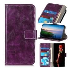 Voor Motorola Moto G 5G Plus Retro Crazy Horse Texture Horizontale Flip Lederen Case met Holder & Card Slots & Photo Frame & Wallet(Paars)