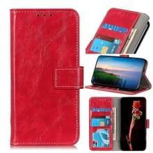 Voor Motorola Moto G 5G Plus Retro Crazy Horse Texture Horizontale Flip Lederen case met Holder & Card Slots & Photo Frame & Wallet(Red)
