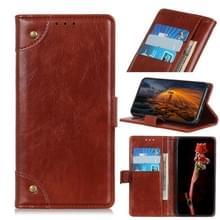 Voor Google Pixel 5 Copper Buckle Nappa Texture Horizontale Flip Lederen Case met Holder & Card Slots & Wallet(Bruin)