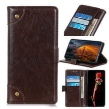 Voor Google Pixel 5 Copper Buckle Nappa Textuur Horizontale Flip Lederen Case met Holder & Card Slots & Wallet(Coffee)