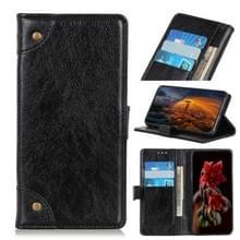 Voor Google Pixel 5 XL Copper Buckle Nappa Texture Horizontale Flip Lederen Case met Holder & Card Slots & Wallet(Zwart)