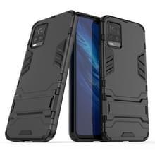 Voor Vivo S7 5G PC + TPU schokbestendige beschermhoes met houder(zwart)