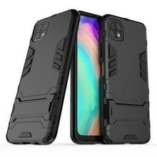Voor Huawei Geniet van 20 PC + TPU Schokbestendige beschermhoes met houder(zwart)