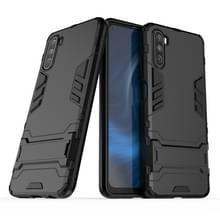 Voor Huawei Maimang 9 PC + TPU Schokbestendige beschermhoes met houder(zwart)