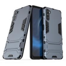 Voor Huawei Maimang 9 PC + TPU Shockproof beschermhoes met Holder(Navy)