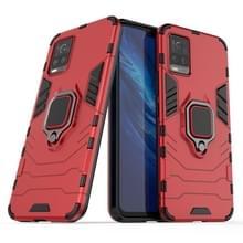 Voor Vivo S7 5G PC + TPU antival beschermhoes met ringhouder(rood)